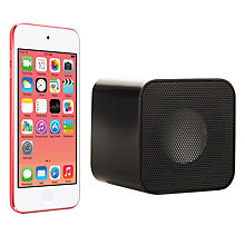 Buy Apple iPod touch 5th generation, 32GB, Pink with Juice Sound Square Portable Speaker, Black Online at johnlewis.com