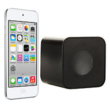 Buy Apple iPod touch 5th generation, 32GB, White & Silver with Juice Sound Square Portable Speaker, Black Online at johnlewis.com