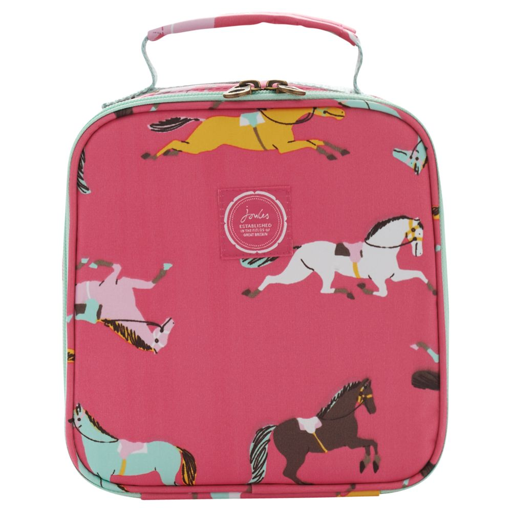 Joules Horse Lunch Bag, Pink