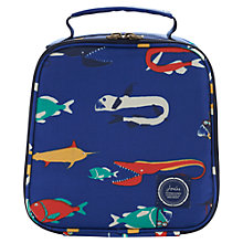 Buy Joules Scary Fish Lunch Bag, Blue Online at johnlewis.com