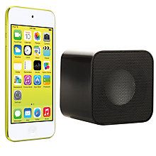 Buy Apple iPod touch 5th generation, 32GB, Yellow with Juice Sound Square Portable Speaker, Black Online at johnlewis.com