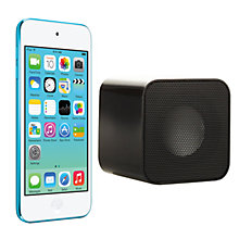 Buy Apple iPod touch 5th generation, 64GB, Blue with Juice Sound Square Portable Speaker, Black Online at johnlewis.com
