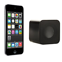 Buy Apple iPod touch 5th generation, 64GB, Space Grey with Juice Sound Square Portable Speaker, Black Online at johnlewis.com