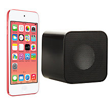 Buy Apple iPod touch 5th generation, 64GB, Pink with Juice Sound Square Portable Speaker, Black Online at johnlewis.com