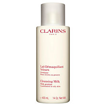 Buy Clarins Jumbo Cleansing Milk, Combination/Oily Skin, 400ml Online at johnlewis.com