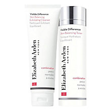 Buy Elizabeth Arden Visible Difference Cleansing & Toning Duo Set, Normal Skin Online at johnlewis.com