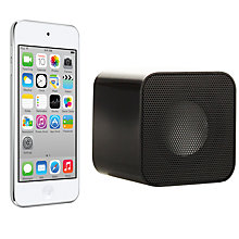 Buy Apple iPod touch 5th generation, 64GB, White & Silver with Juice Sound Square Portable Speaker, Black Online at johnlewis.com