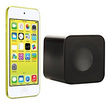 Buy Apple iPod touch 5th generation, 64GB, Yellow with Juice Sound Square Portable Speaker, Black Online at johnlewis.com
