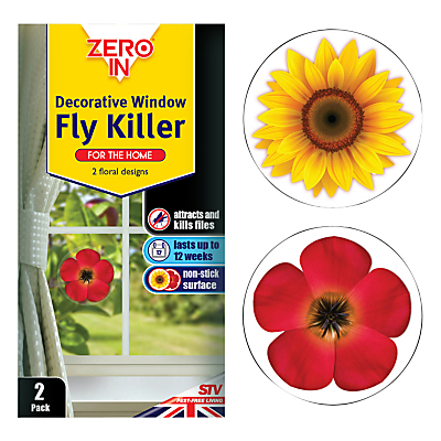 Zeroin Decorative Window Fly Killer, Pack of 2