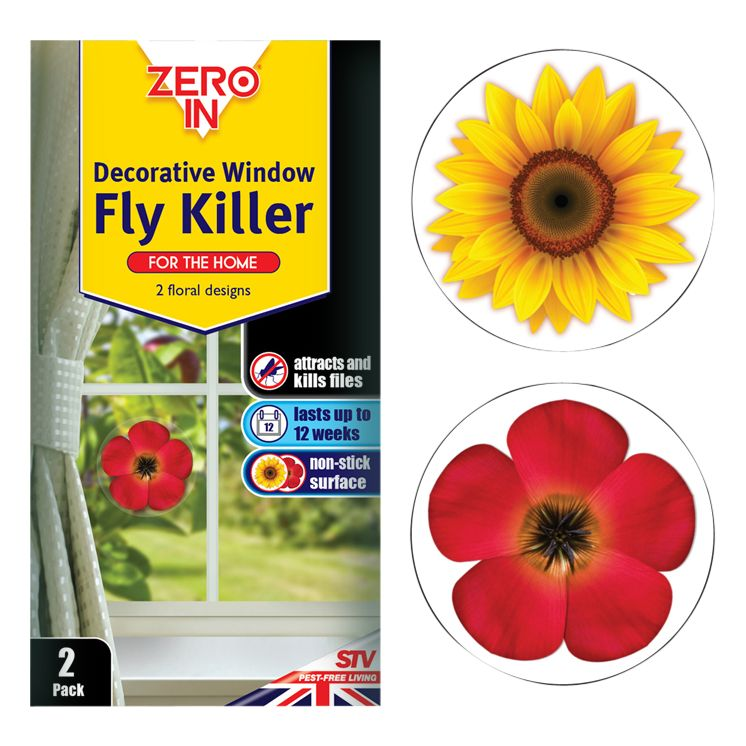 Zeroin Decorative Window Fly Killer, Pack of 2
