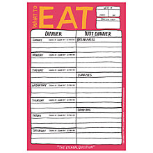 Buy Knock Knock What to Eat Notepad, Yellow Online at johnlewis.com