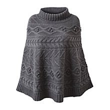 Buy East Textured Cable Knit Poncho, Graphite Online at johnlewis.com