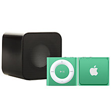 Buy Apple iPod shuffle, 2GB, Green with Juice Sound Square Portable Speaker, Black Online at johnlewis.com