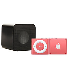 Buy Apple iPod shuffle, 2GB, Pink with Juice Sound Square Portable Speaker, Black Online at johnlewis.com