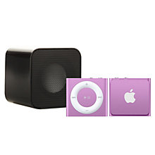 Buy Apple iPod shuffle, 2GB, Purple with Juice Sound Square Portable Speaker, Black Online at johnlewis.com