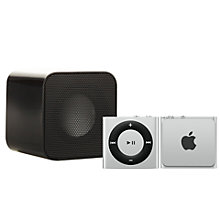 Buy Apple iPod shuffle, 2GB, Silver with Juice Sound Square Portable Speaker, Black Online at johnlewis.com