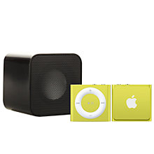 Buy Apple iPod shuffle, 2GB, Yellow with Juice Sound Square Portable Speaker, Black Online at johnlewis.com