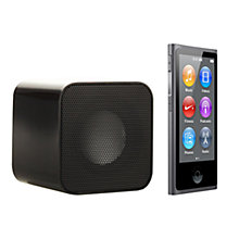 Buy Apple iPod nano,16GB, Space Grey with Juice Sound Square Portable Speaker, Black Online at johnlewis.com
