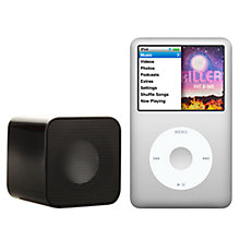Buy Apple iPod classic, 160GB, Silver with Juice Sound Square Portable Speaker, Black Online at johnlewis.com