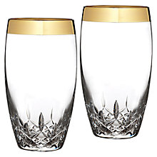 Buy Waterford Lismore Essence Gold Highballs, Set of 2 Online at johnlewis.com