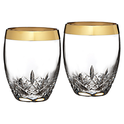Waterford Lismore Essence Gold Glasses, Set of 2