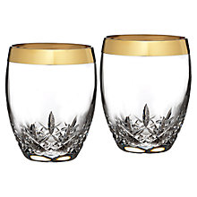 Buy Waterford Lismore Essence Gold Glasses, Set of 2 Online at johnlewis.com