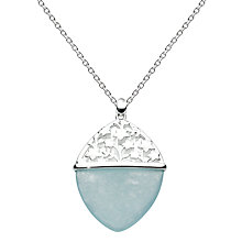 Buy Kit Heath Aster Sterling Silver Jade Pendant, Blue Online at johnlewis.com