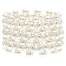 Buy Lido Freshwater Pearl Elasticated Cuff, White Online at johnlewis.com