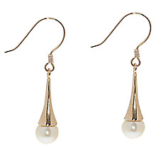 Buy Lido Delicate Freshwater Pearl Set Trumpet Hook Earrings, Rose Gold Online at johnlewis.com