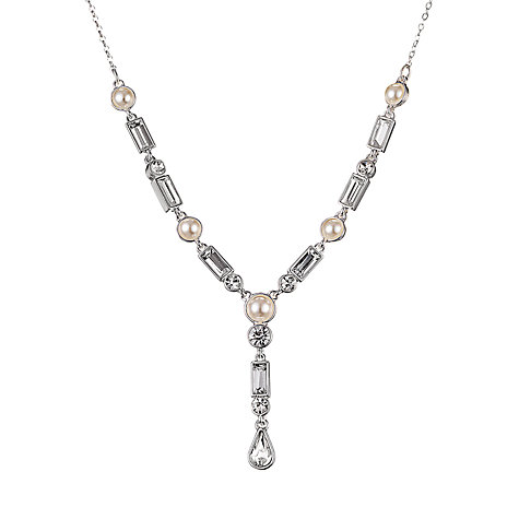 Buy Alan Hannah Silver Plated Crystal Glass Pendant Necklace Online at johnlewis.com