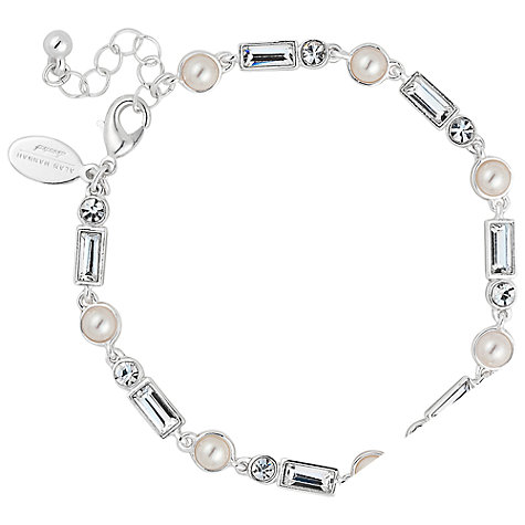 Buy Alan Hannah Silver Plated Crystal Glass Bracelet Online at johnlewis.com