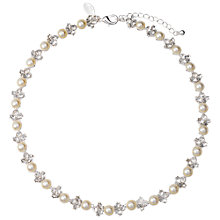 Buy Alan Hannah Silver Plated Glass Pearl And Crystal Necklace Online at johnlewis.com