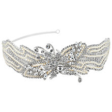 Buy Alan Hannah Vintage Embroidered Crystal Glass Headband Online at johnlewis.com