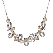 Buy Alan Hannah Silver Plated Glass Pearl And Crystal Love Knot Necklace Online at johnlewis.com