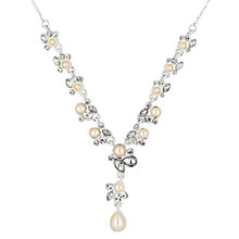 Buy Alan Hannah Silver Plated Freshwater Pearl And Crystal Pendant Necklace Online at johnlewis.com