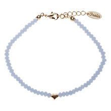Buy Orelia Tiny Heart Glass Beaded Bracelet, Light Blue Online at johnlewis.com