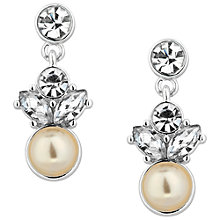 Buy Alan Hannah Silver Plated Freshwater Pearl Crystal Earrings Online at johnlewis.com