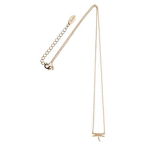 Buy Orelia Summer Dragonfly Pendant Necklace, Gold Online at johnlewis.com