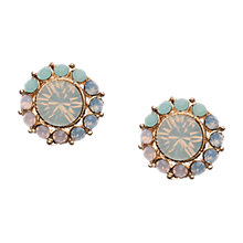 Buy Orelia Large Multi Pastel Stone Flower Stud Earrings, Gold Online at johnlewis.com