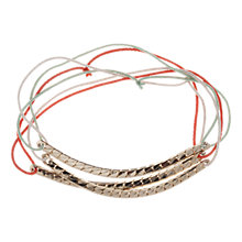 Buy Orelia Slinky Stretch Segmented Bar Multicoloured Cord Trio Bracelet Set, Gold Online at johnlewis.com