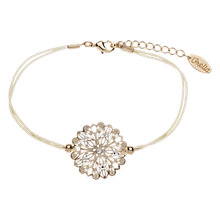 Buy Orelia Laser Cut Glass Crystal Set Flower Disc Friendship Cord Bracelet Online at johnlewis.com