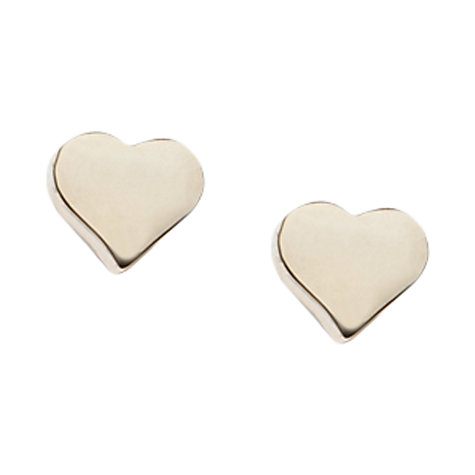 Buy Orelia Chunky Heart Stud Earrings, Gold Online at johnlewis.com