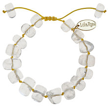 Buy Lola Rose Fern Rock Crystal Neon Cord Bracelet Online at johnlewis.com