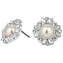 Buy Alan Hannah Silver Plated Freshwater Pearl Crystal Flower Stud Earrings Online at johnlewis.com