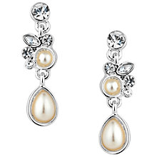 Buy Alan Hannah Silver Plated Freshwater Pearl And Crystal Drop Earrings Online at johnlewis.com