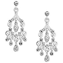 Buy Alan Hannah Silver Plated Crystal Chandelier Drop Earrings Online at johnlewis.com
