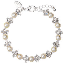 Buy Alan Hannah Silver Plated Pearl Crystal Bracelet Online at johnlewis.com