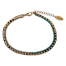 Buy Orelia Ombre Dainty Flat Chain Blue Woven Curb Bracelet, Gold Online at johnlewis.com
