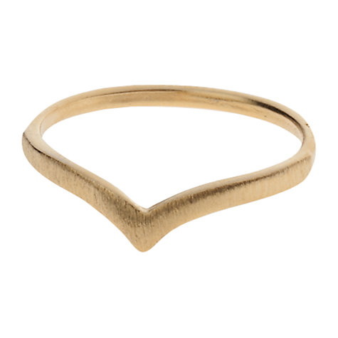 Buy Orelia Brushed Finished V-Ring, Gold Online at johnlewis.com