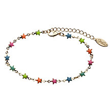Buy Orelia Multi Coloured Enamel Wishing Star Bracelet, Gold Online at johnlewis.com